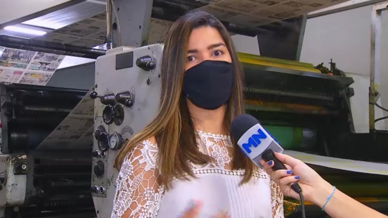 Editora Executiva do Diário Oficial das Prefeituras Piauienses fala sobre adesão ao serviço. Imagem: Reprodução/Rede Meio Norte