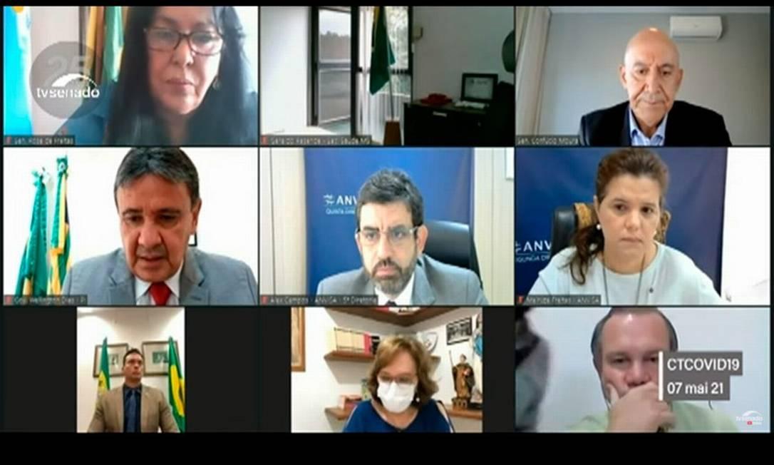 Audiência pública no Senado discute sobre liberação da Sputink V Foto: Reprodução