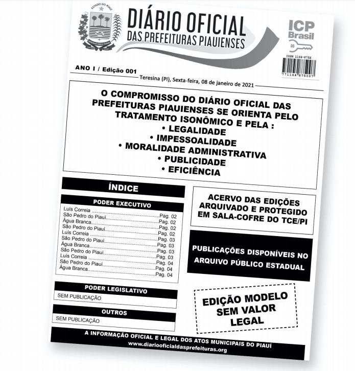 Compromisso do Diário Oficial das Prefeituras PIauienses - Foto: Divulgação