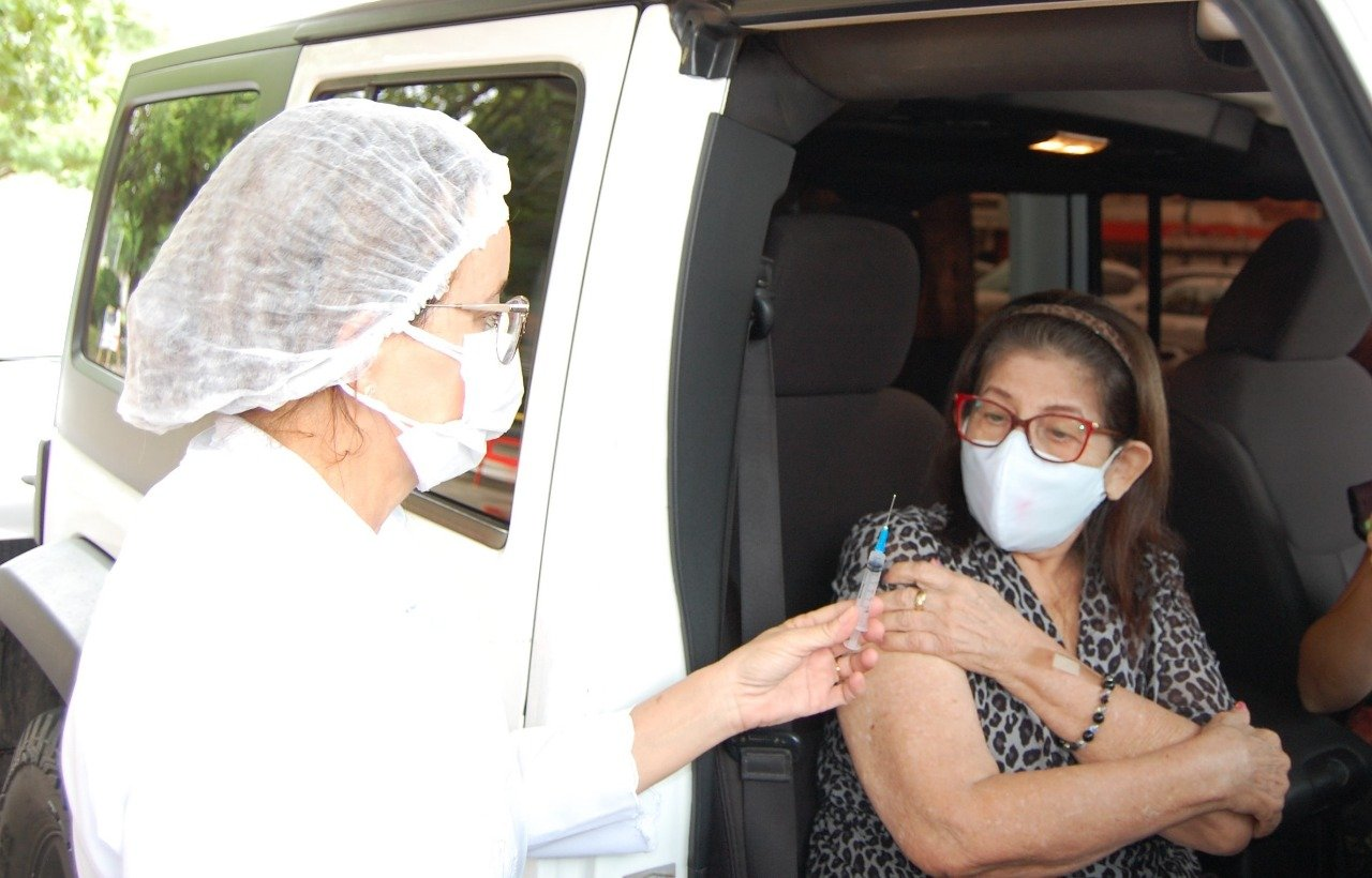 FMS já vacinou 102.606 idosos em Teresina contra a Covid-19 - Foto: Divulgação/FMS