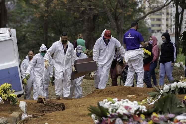 Brasil ultrapassa 420 mil mortes pela Covid-19 (Foto: Reprodução/ Correio Braziliense)