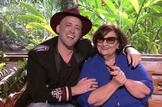 Paulo Gustavo e a mãe, Déa Lúcia (Foto: Reprodução)