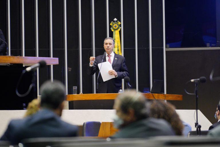 Ministro Roberto Barroso participa de sessão na Câmara Federal (Pablo Valadares/Câmara dos Deputados)