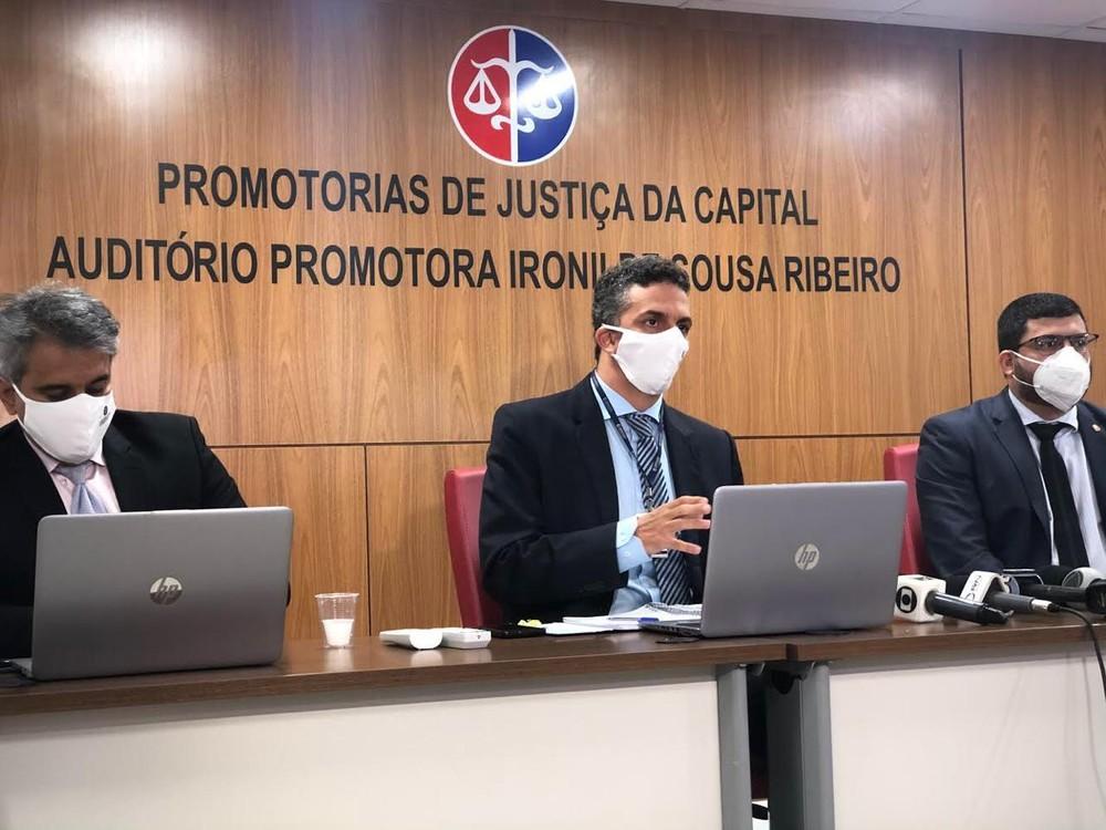 Reinaldo Campos, Frederico Bianchini e Igor Adriano Trinta — Foto: Adriano Soares/Grupo Mirante