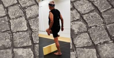 Cientistas detectaram incapacidades relacionadas à manutenção do ritmo da caminhada e ao posicionamento do pé; descobertas permitem desenvolver um protocolo de exercícios para amenizar o problema (foto: acervo dos pesquisadores)