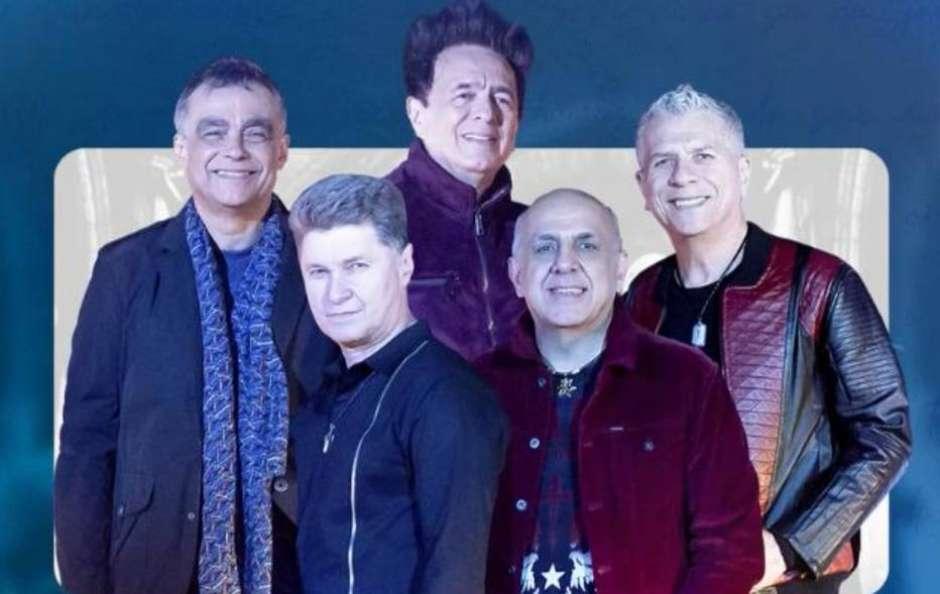 O quinteto da banda Roupa Nova em anúncio sobre novo DVD - Foto: Instagram