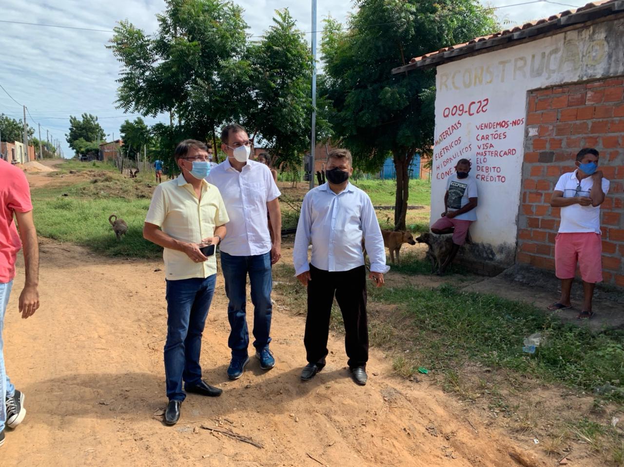 Vereador Vinício Ferreira visita Torquato Neto, na zona sul de Teresina