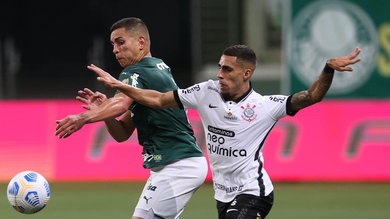 Palmeiras e Corinthians ficaram no empate em 1 a 1 no Allianz Parque Foto;:Cesar Greco