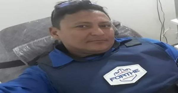 Vigilante Diego morreu com tiro no rosto. (Foto: Reprodução)