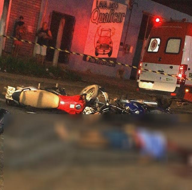 Colisão entre motocicletas deixa homem morto e casal ferido em Parnaíba