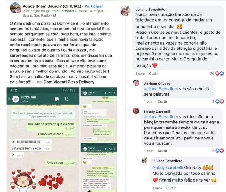 Troca de mensagens entre Adriano e a funcionária - Reprodução: Redes Sociais