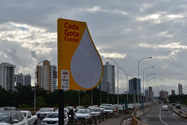 O símbolo faz parte de uma ação do Centro de Hematologia e Hemoterapia do Piauí (Hemopi) - Foto: Ascom