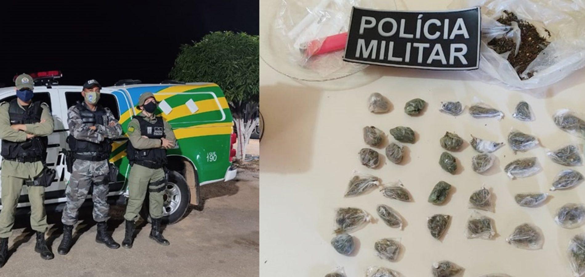 Entorpecentes encontrados em bar - Foto: Polícia Militar