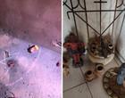 Fotos mostram itens que indicam bruxaria e rituais na casa de Lázaro