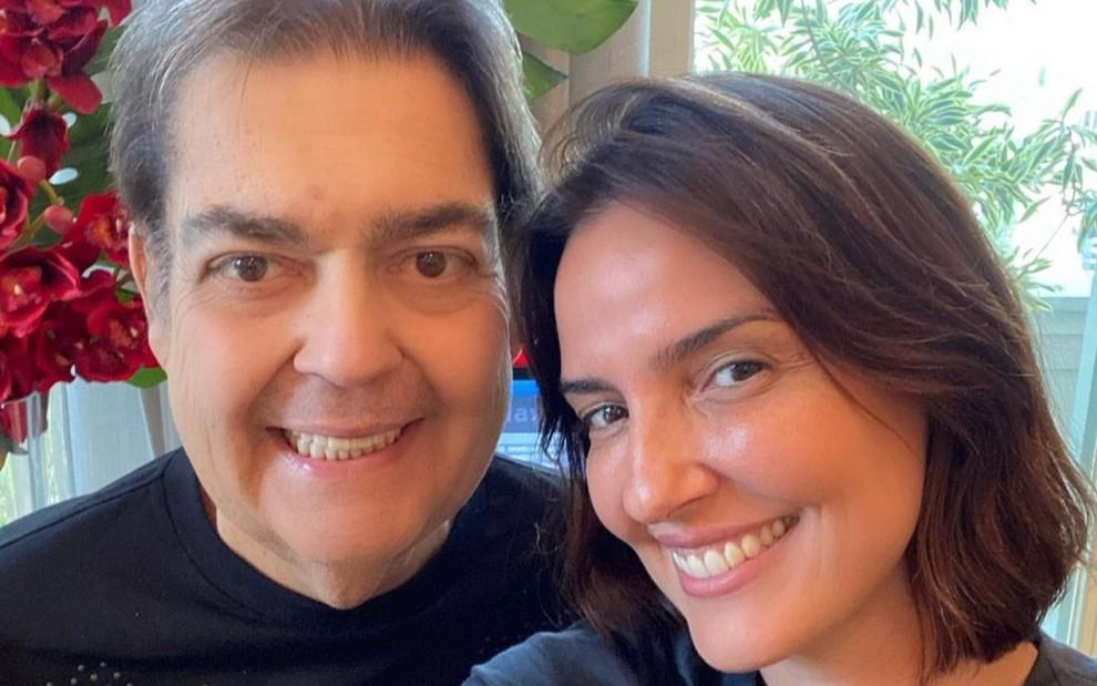 Fausto Silva e Luciana Cardoso - Foto: Arquivo pessoal