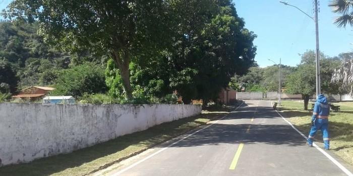 Prefeito João Luiz mantendo sua marca de cidade limpa em Monsenhor Gil