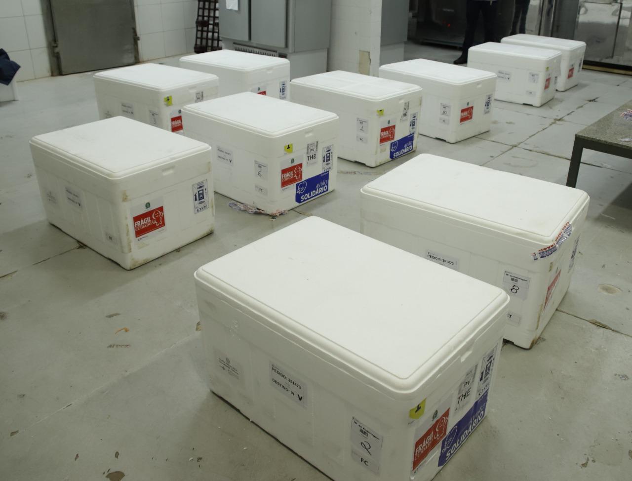 Piauí recebe novo lote com mais de 100 doses de AstraZeneca