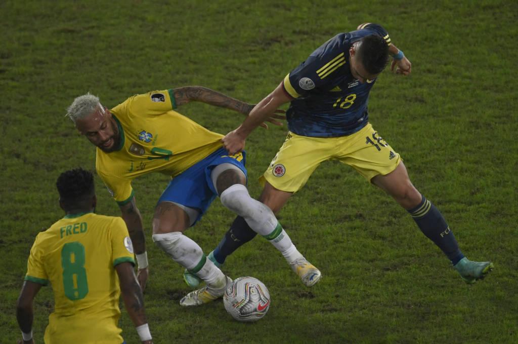 Após vencer a Colômbia, Brasil segue 100% na Copa América Foto: Mauro PImentel-AFP