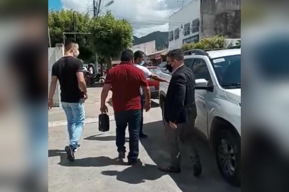 Secretário de Barreira foi preso pela Polícia Civil suspeito no sequestro da mulher de 35 anos   FOTO: Reprodução