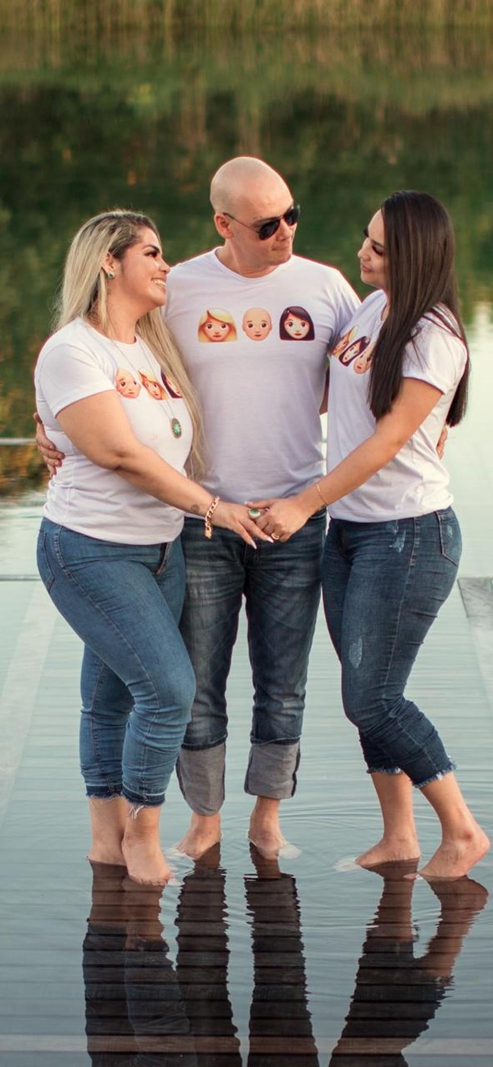 Alda Nery, Darlene Oliveira e Erisson Nery assumiram trisal