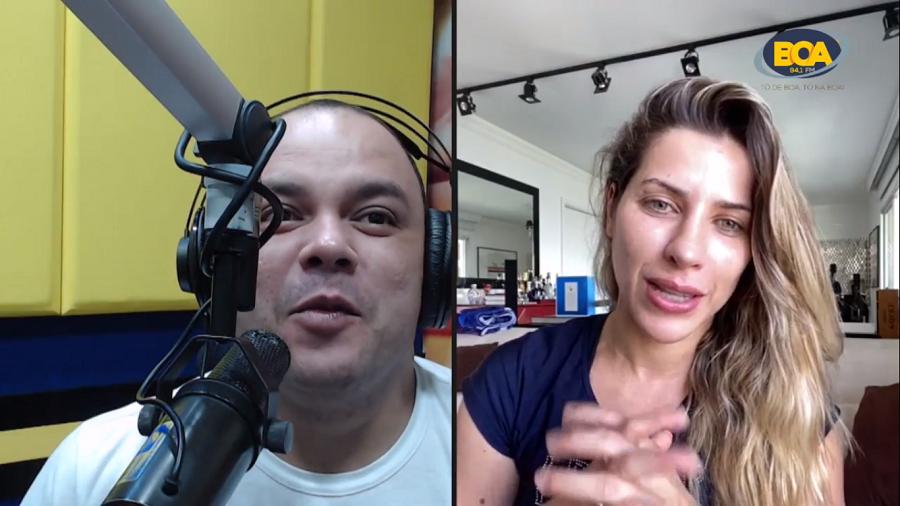 """Ana Paula Minerato em entrevista no ao vivo no programa """"Vibes & Tal"""" deste sábado (26)- Imagem: Rádio Boa FM"""