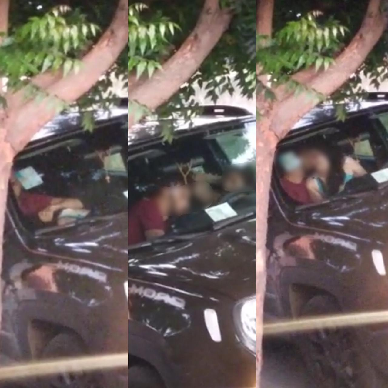 Casal é flagrado praticando sexo oral dentro de carro na zona Leste de Teresina
