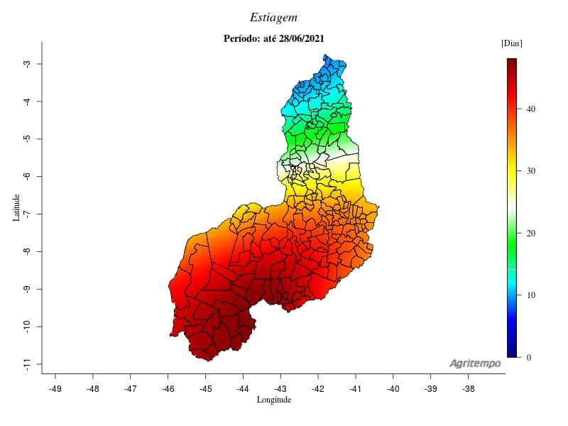 Maior parte dos municípios do Piauí está há mais de 30 dias sem chuvas   FOTO: Reprodução