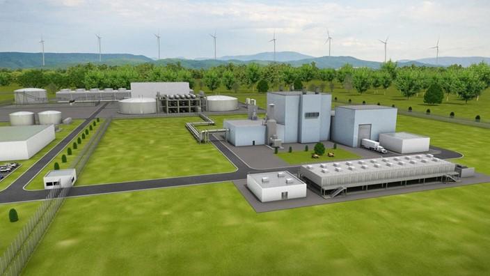 Estrutura do reator nuclear de US$ 1 bi está sendo construída em Wyoming (EUA) | foto: Reprodução
