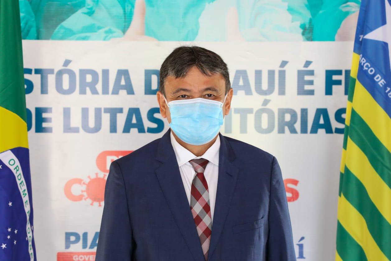 Governador Wellington Dias lamentou as mortes provocadas pela Covid no Piauí (Foto: CCOM)