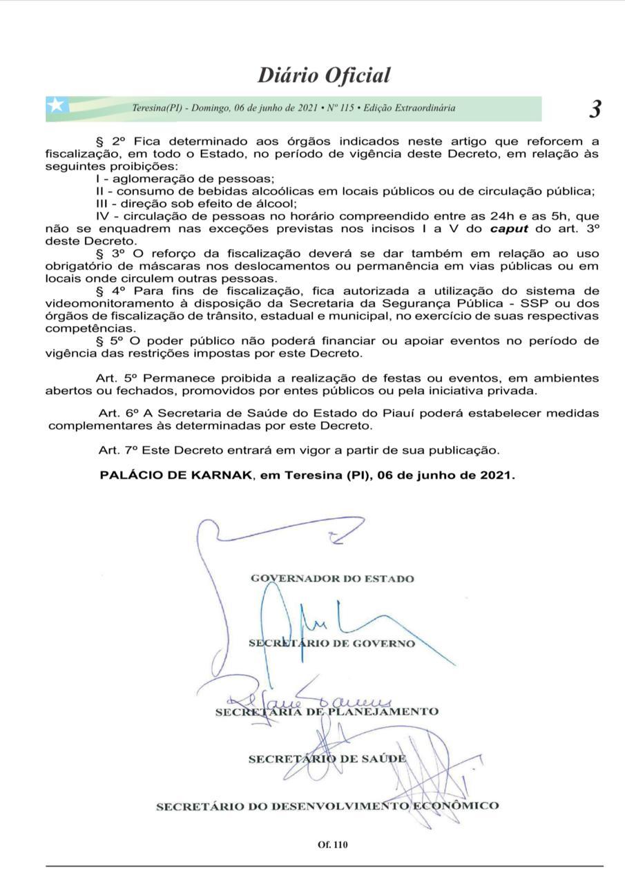 Governo do Piauí prorroga decreto de medidas restritivas até 13 de junho - Imagem 4
