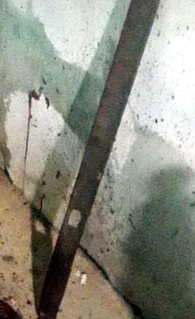 Barra de ferro usada no crime - Foto: Reprodução/Mural da Vila