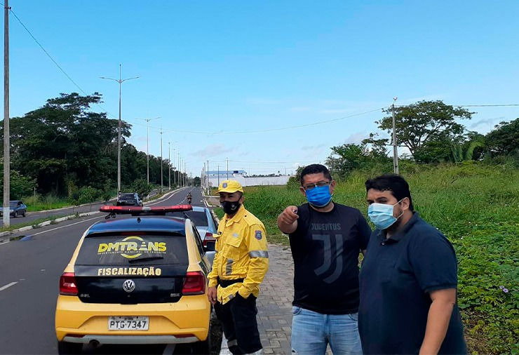 As equipes da Semej e DMTRANS visitaram o trecho para elaborar a logística da interdição | FOTO: Divulgação