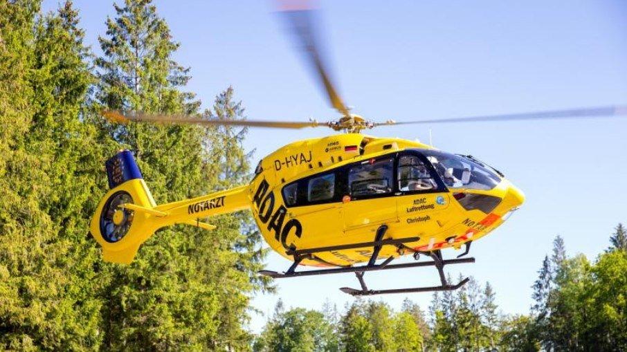 Helicoptero movido a bicombustível que inclui querosene de aviação e 50% de óleo de cozinha - Foto: Divulgação