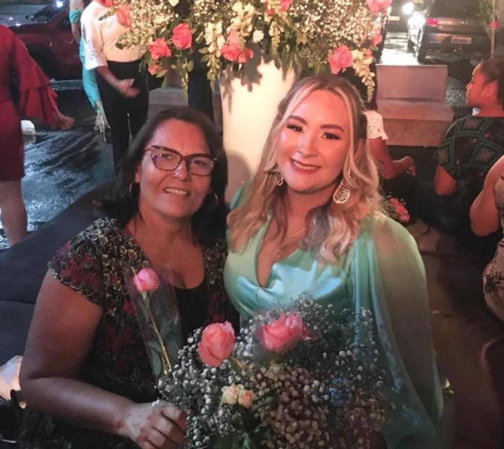 Professora Noélia Maranhão e a filha Bianca Maranhão, ambas vítimas da Covid-19 em Teresina (Foto: Redes Sociais)
