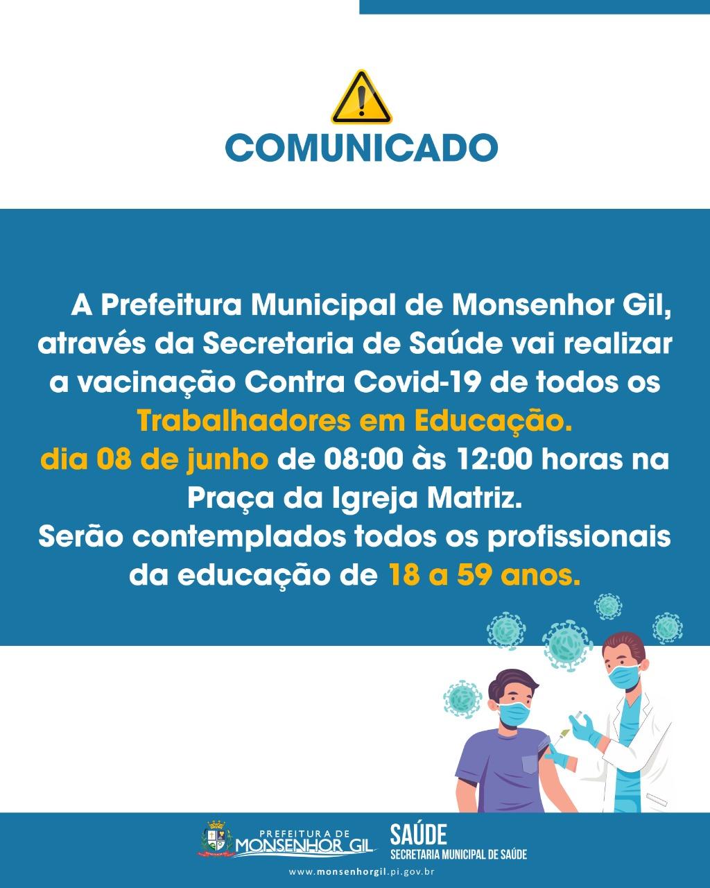 Prefeito João Luiz prestigia o Dia D de vacinação para professores - Imagem 2