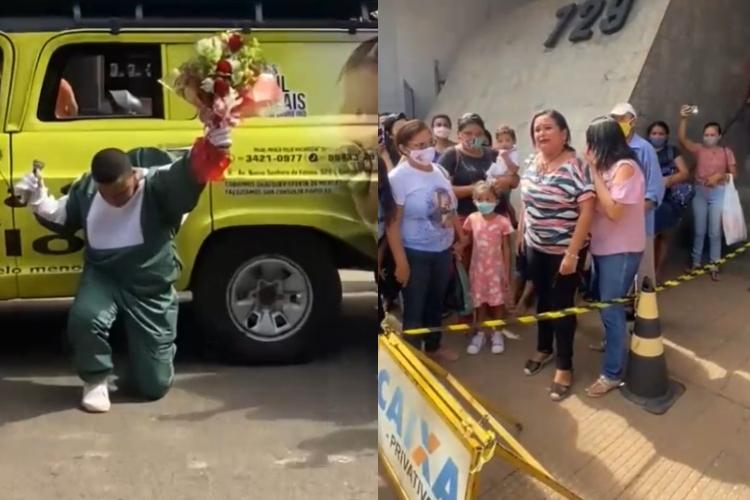 Homem pede para ex-namorada voltar com ele com carro de som em Picos (Foto: Montagem/ Portal Meio Norte)