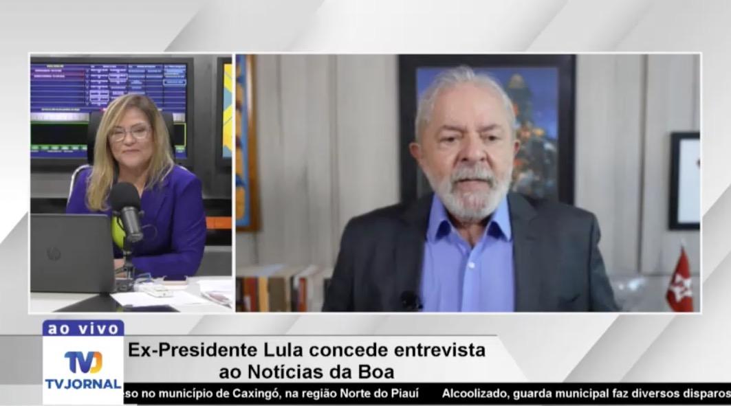 Lula concedeu entrevista ao Notícias da Boa e admitiu a chance de se candidatar (Foto: Reprodução)