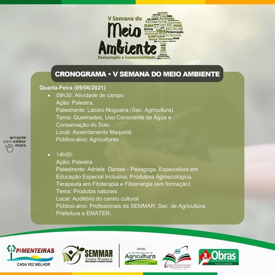 SEMMAR de Pimenteiras realiza Semana do Meio Ambiente - Imagem 3