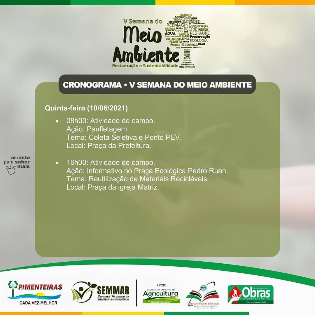 SEMMAR de Pimenteiras realiza Semana do Meio Ambiente - Imagem 4
