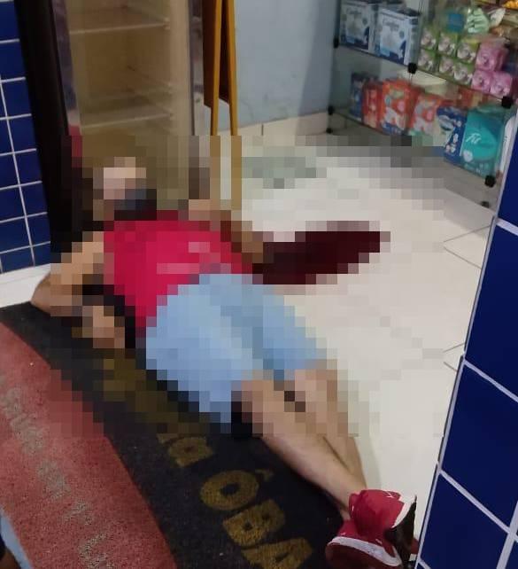 Empresário é morto a tiros no Centro de Piripiri (Foto: Reprodução/ WhatsApp)