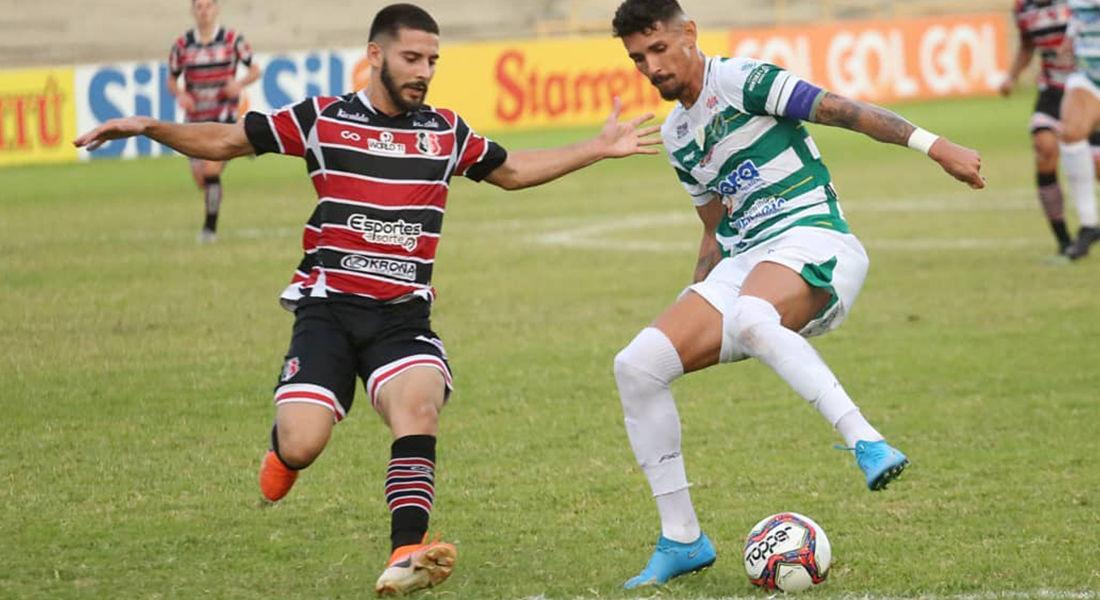 Altos marcou único gol da partida derrotando o Santa Cruz, de Recife. (Foto:Luis Junior - Altos )