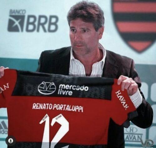 Renato Gaúcho no comando do Flamengo. (Foto: Reprodução)