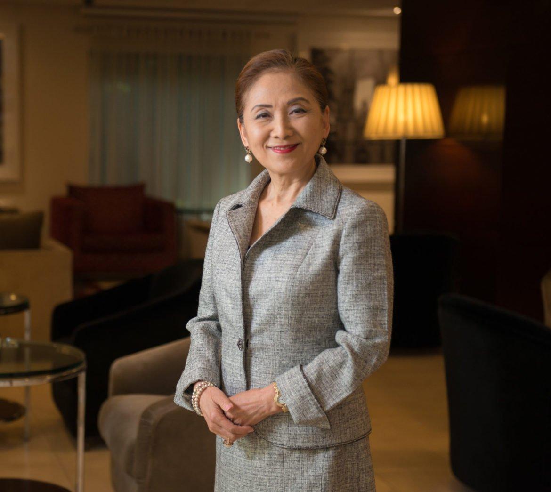 Chieko Aoki fez curso de hotelaria e iniciou seu