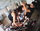 VÍDEO: DJ Ivis dá socos e chutes na mulher na frente da filha de  9 meses