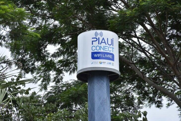 Ponto de internet do Piauí Conectado na Praça Pedro II - Foto: Ascom