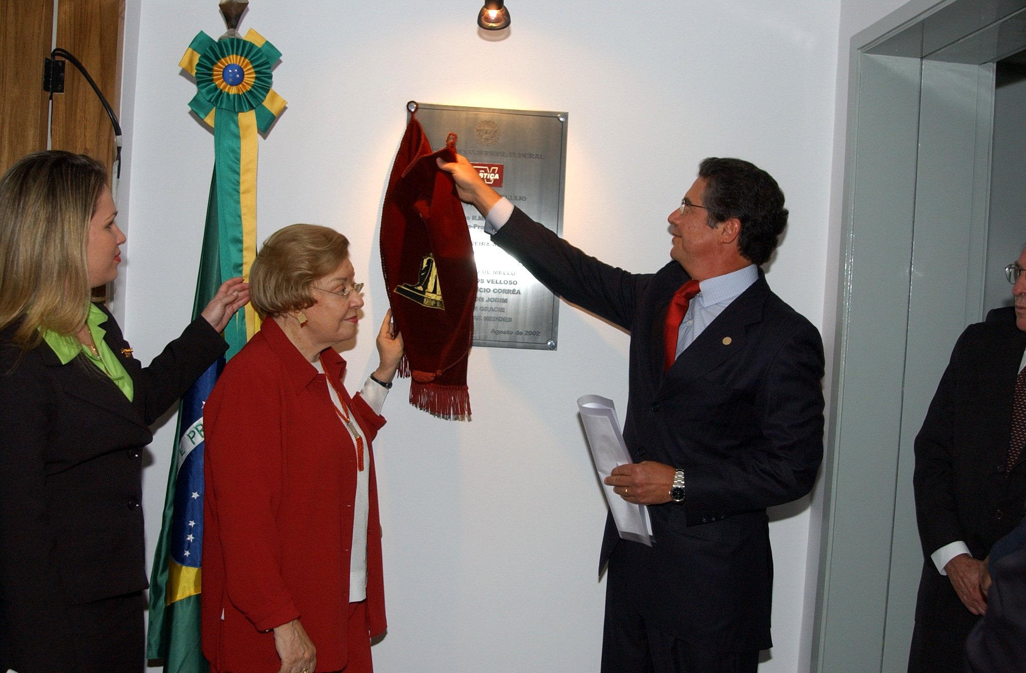 Ministro Marco Aurélio na inauguração da TV Justiça (Divulgação STF)