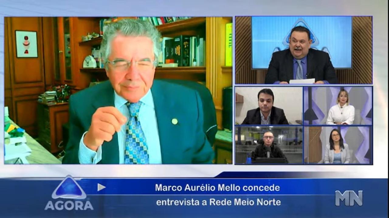 Marco Aurélio concede entrevista ao Agora (Foto: Reprodução)