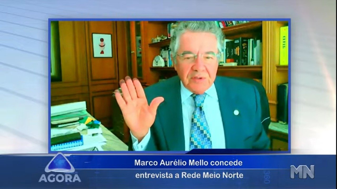 Marco Aurélio Mello em entrevista diz ser contra o impeachment (Foto: Reprodução)