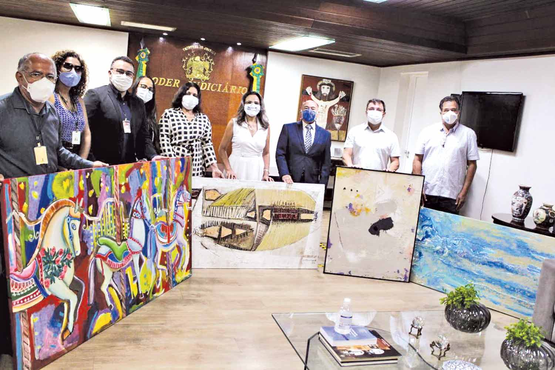 13 obras de arte de artistas piauienses já foram doadas ao Tribunal de Justiça do Piauí