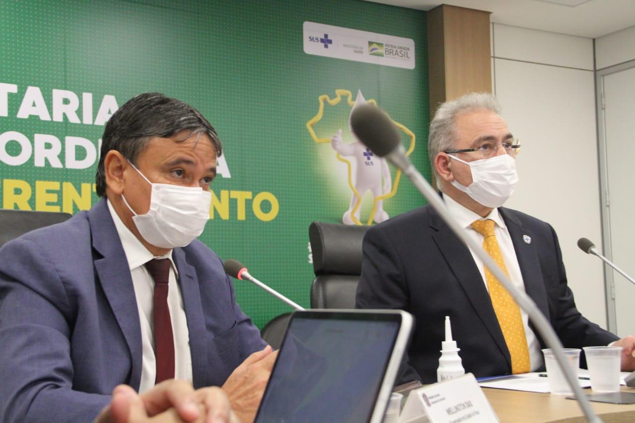 Governador Wellington Dias e o ministro Marcelo Queiroga (Divulgaçao)